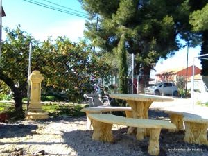 zona de descanso ecohuertos de Murcia